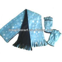 двойной слой зима флис шарф