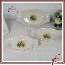 Plato de cena de cerámica caliente al por mayor