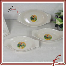 Placa de jantar cerâmica quente por atacado