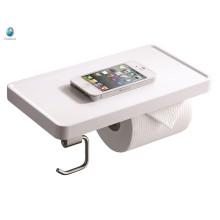 Accesorio de baño de minimalismo Titular de papel higiénico blanco ABS Titular de teléfono de baño