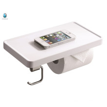 Minimalism Bathroom Accessory White ABS Toilet Paper Holder Bathroom Phone Holder