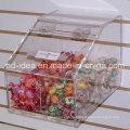 Акриловая Коробка дисплея пикколо для презентации супермаркета конфеты