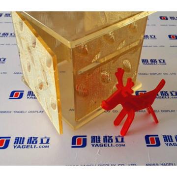 Guardanapo de design moderno ou recipiente de caixa de acrílico de tecido para o hotel