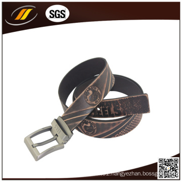 Embossed Business Pure Leather Belt Genuine Leather Belt for Men