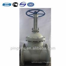 Acier au carbone wcb valve à clapet à bride Russe tige ascendante standard Z41H-16C