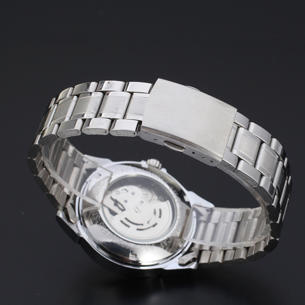 winner mininalist men watch with small dial date design watch stainless steal band