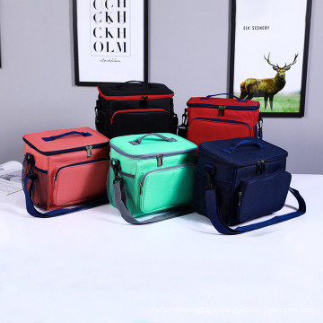 Large Capacity Oxford Cloth Ice Pack Lunch Cooler Bag
