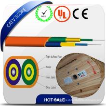 Fio ótico da fibra óptica do cabo liso frente e verso