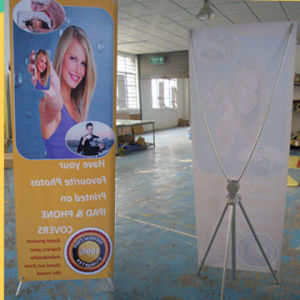 Adjustable Aluminium X Stand Banners 80x180cm