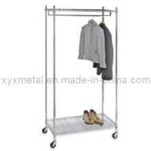 Muti-Functional Movable Supreme Commercial Chromed Vestuário Vestuário Rack