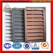 Ventanas de obturador de aluminio