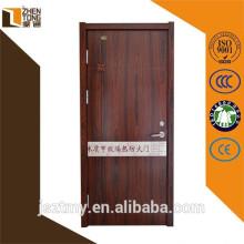Lana de roca perlita lleno de diseño de la puerta de panel de madera, puertas de fuego visión, puerta de la decoración