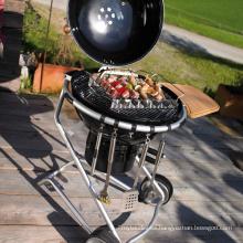 Parrilla portátil al aire libre del fumador de carbón de la barbacoa