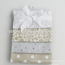Customed Printed Cotton Flannel Now Born Baby Infants Blankets