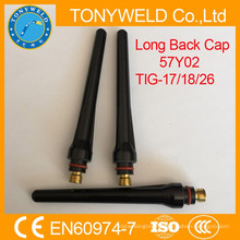 tig torch accessories wp26 welding tig gun long and middle back cap