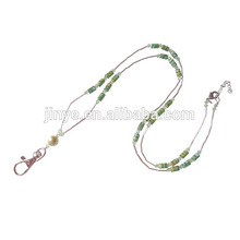 Fashion Crystal Beaded Keychain Lanyard ID Card Holder Beaded Strap