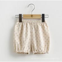 Organic Cotton Lovely DOT impresso bebê curto calças