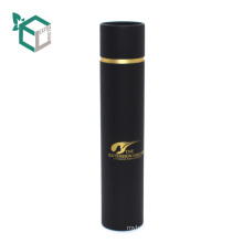 Experienced black color high quality bottle carrier round cylinder wine box
