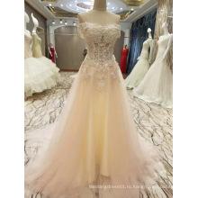 Новое Прибытие 2017 Брака Бисером Лиф Свадебные Платья