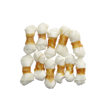 Dry pet food Chicken Wrapped Rawhide Knotted