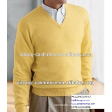 Camisola masculina de caxemira
