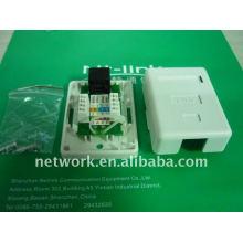 China Shenzhen Netlink blanco cat5e utp único puerto placa frontal