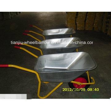 Carrinho de mão de alta qualidade da roda da agricultura de Rússia Model (WB6404H)