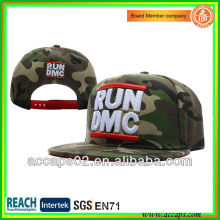 Custom fashion camo embroidery camp cap/hats with the 3D embroidery SN-2204
