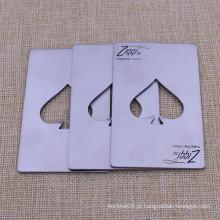 Promoção personalizado abridor de garrafas de aço inoxidável cartão de visita
