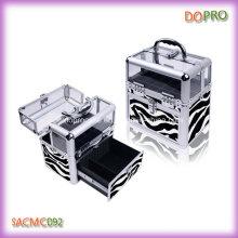 Верхняя акриловая профессиональная коробка хранения хранения ногтя зебры Zebra (SACMC092)