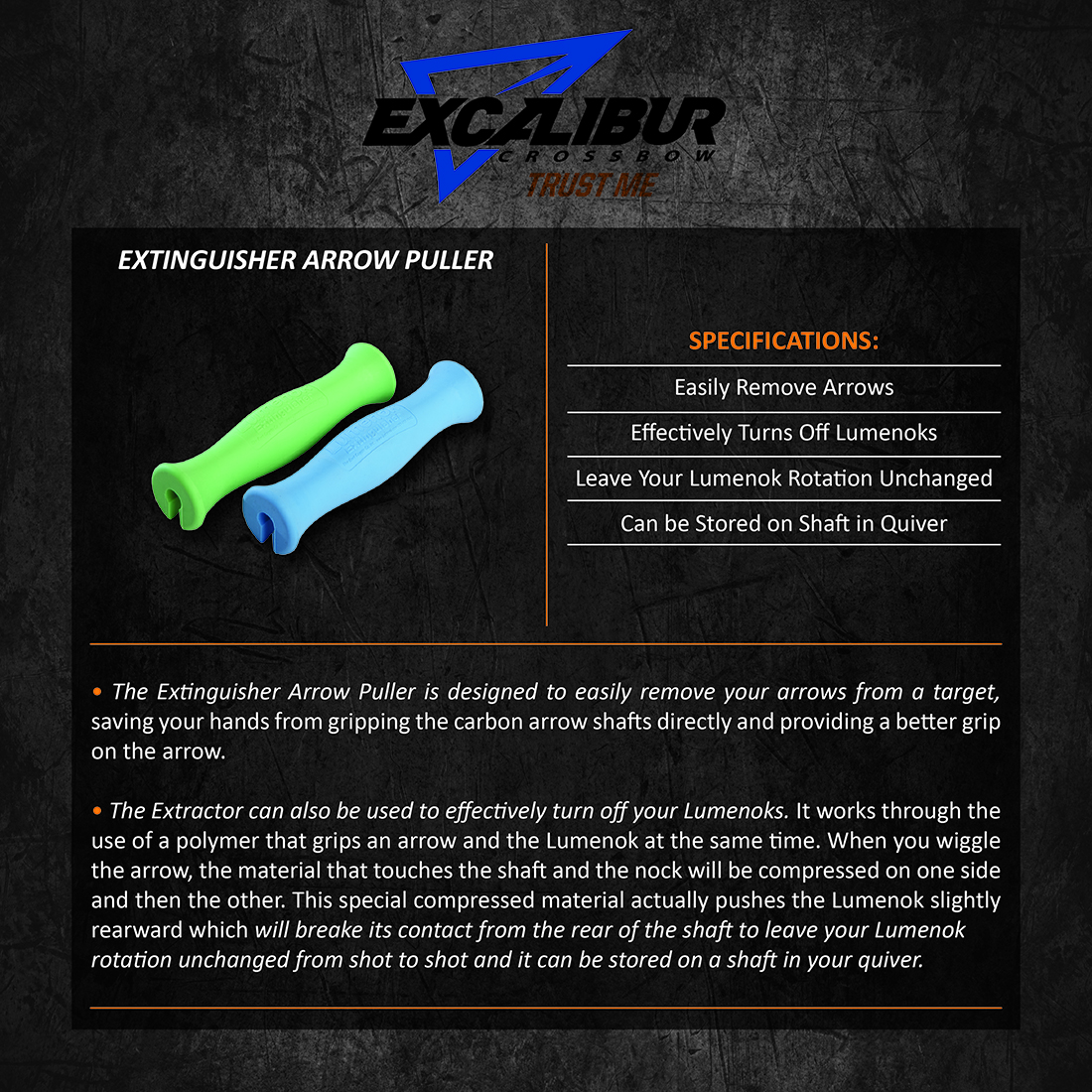 Excalibur_Extinguisher_Arrow_Puller_Product_Description