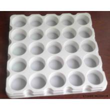 Weißes Plastikfach
