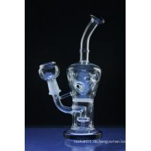 Schwarze Lippe eingewickelte Faberge Ei Rig Glas Rauchende Wasserpfeifen (ES-GB-374)