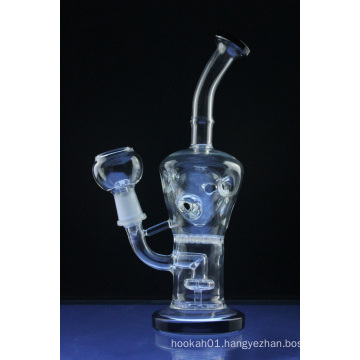 Black Lip Wrapped Faberge Egg Rig Glass Smoking Water Pipes (ES-GB-374)