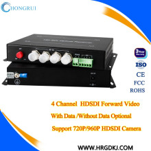 4 Channel 20km single mode single fiber 1080p hd sdi fiber converter