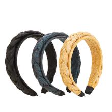 Bandeau Opaska Korean Braid Fabric Headband Solid Autumn Winter Wide Hairband for Woman Girl Fashion Hair Accessories Dropshipping Wholesale