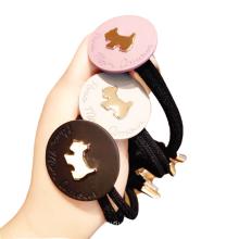 attache-cheveux elastico per cap Korean Cartoon Acrylic Dog Hair Tie Elastic Band Scrunchies for Girl Ponytail Head Rope Rubber Fashion Accessories Dropshipping