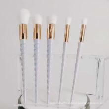 Rainbow Unicorn Lashes Brushes Conjunto de pincéis de maquiagem de unicórnio