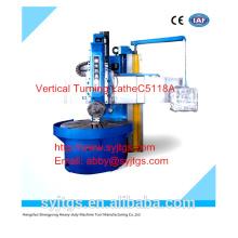 Novo Vertical Turning Lathe C5118A à venda com o melhor preço em estoque oferecido pela grande Vertical Turning Lathe Machine fabricação
