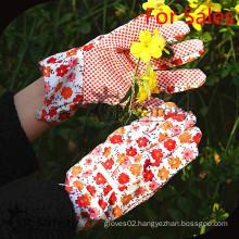 SRSAFETY flower printer cotton gloves/garden cheapest working gloves/latex coated working gloves