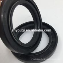 Boa vedação de óleo e graxa TC Borracha revestida com duplo lábio espiral de auto-aperto