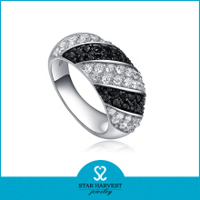 High Quality New 925 Silver Black Latest Ring (R-0069)