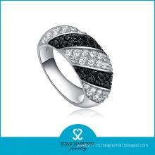 Высокое Качество Новый 925 Серебро Черный Последний Кольцо (Р-0069)