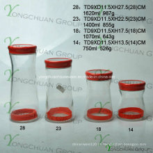 Atacado máquina-moldado garrafa de armazenamento de vidro conjunto