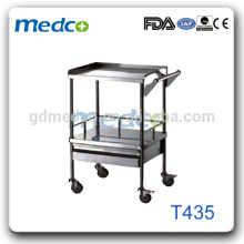 High quality hospital trolley with stainless steel frame for sale T435