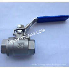 2PC Stainless Steel 1000wog Thread Ball Valve with Lock