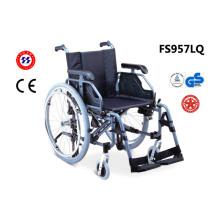 Silla de ruedas de acero Fs957lq