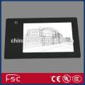 Caja de luz de seguimiento con tira led y panel de acrílico