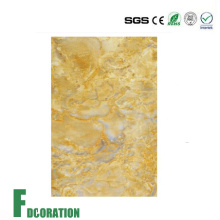 Wall Plastic Profile PVC UV Artificial Marble Panel
