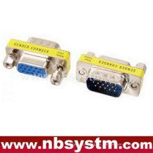 Db15 macho a db15 female Cambiador de género azul, mini adaptador de extensión VGA